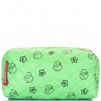 Косметичка Poolparty cosmetic-green-ducks
