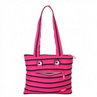 Сумка ZIPIT MONSTERS Tote / Beach Beach Pink Begonia & Black Teeth (ZBZM-2)